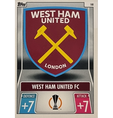 Topps Champions League 2021/2022 Nr 100 West Ham United FC Team Badge