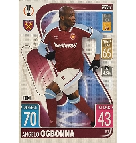 Topps Champions League 2021/2022 Nr 103 Angelo Ogbonna
