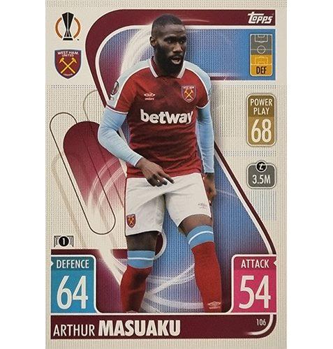Topps Champions League 2021/2022 Nr 106 Arthur Masuaku