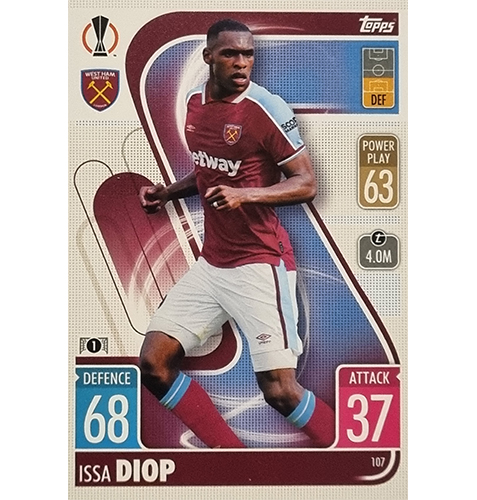 Topps Champions League 2021/2022 Nr 107 Issa Diop