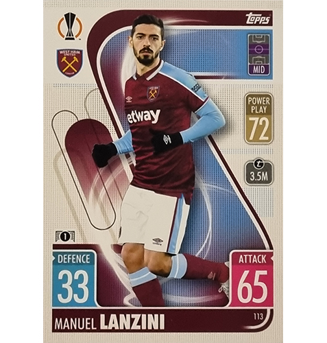 Topps Champions League 2021/2022 Nr 113 Manuel Lanzini