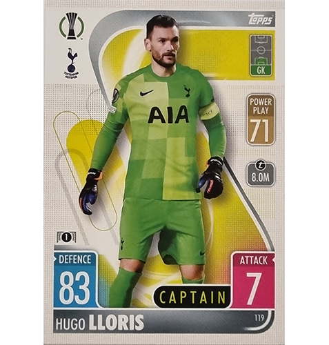 Topps Champions League 2021/2022 Nr 119 Hugo Lloris