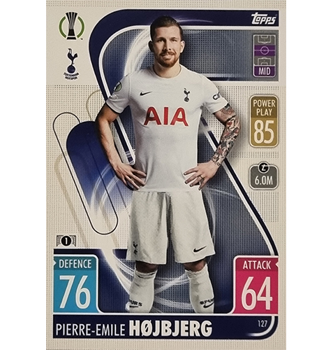 Topps Champions League 2021/2022 Nr 127 Pierre Emile Hojbjerg