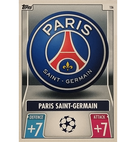 Topps Champions League 2021/2022 Nr 136 Paris Saint Germain Team Badge