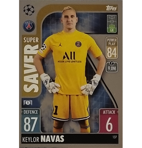 Topps Champions League 2021/2022 Nr 137 Keylor Navas