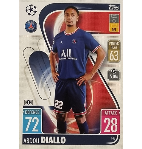 Topps Champions League 2021/2022 Nr 143 Abdou Diallo