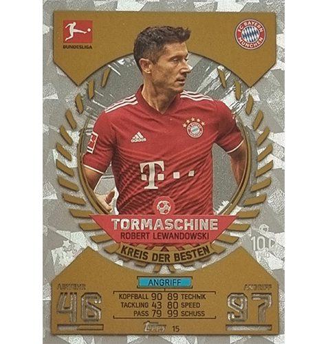 Topps Match Attax Bundesliga 2021/22 Nr 015 Robert Lewandowski