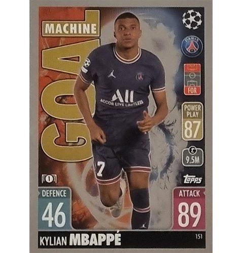 Topps Champions League 2021/2022 Nr 151 Kylian Mbappe