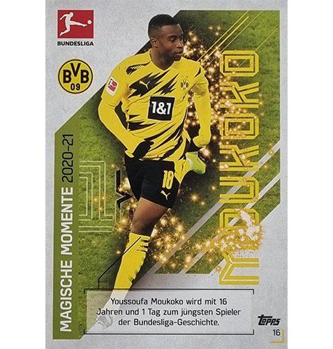 Topps Match Attax Bundesliga 2021/22 Nr 016 Youssoufa Moukoko