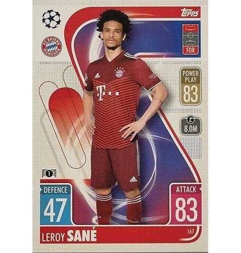 Topps Champions League 2021/2022 Nr 167 Leroy Sane