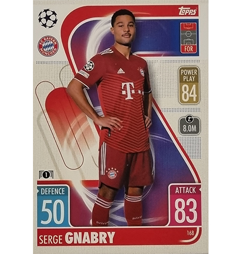 Topps Champions League 2021/2022 Nr 168 Serge Gnabry