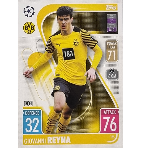 Topps Champions League 2021/2022 Nr 185 Giovanni Reyna