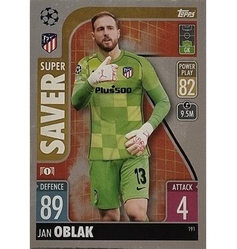 Topps Champions League 2021/2022 Nr 191 Jan Oblak