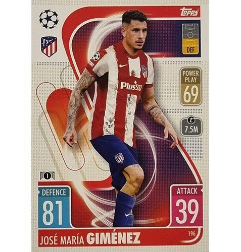 Topps Champions League 2021/2022 Nr 196 Jose Maria Gimenez
