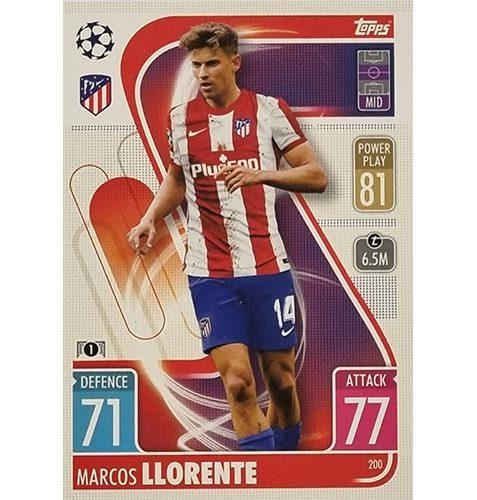 Topps Champions League 2021/2022 Nr 200 Marcos Llorente