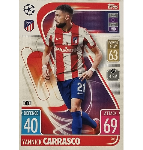 Topps Champions League 2021/2022 Nr 203 Yannick Carrasco