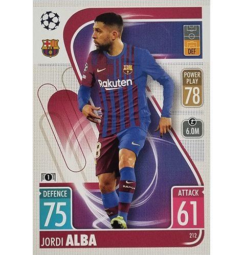 Topps Champions League 2021/2022 Nr 212 Jordi Alba