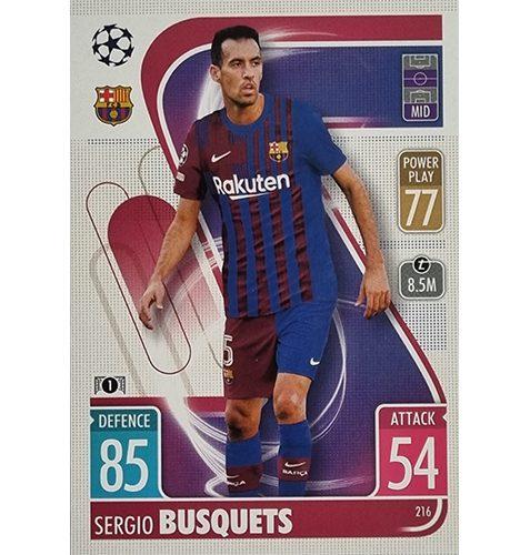 Topps Champions League 2021/2022 Nr 216 Sergio Busquets