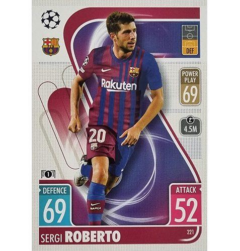 Topps Champions League 2021/2022 Nr 221 Sergi Roberto