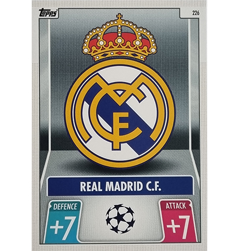 Topps Champions League 2021/2022 Nr 226 Real Madrid Team Badge