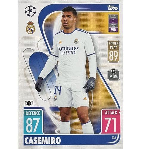 Topps Champions League 2021/2022 Nr 233 Casemiro
