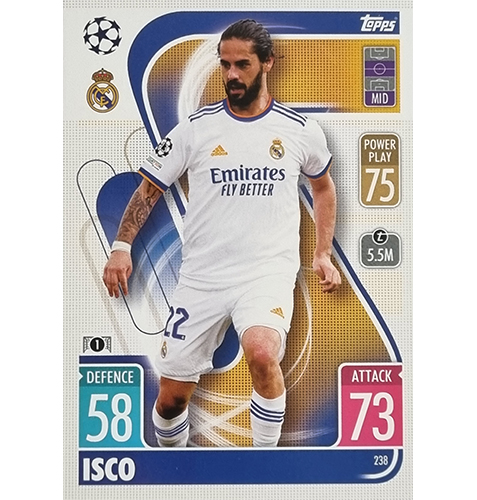 Topps Champions League 2021/2022 Nr 238 Isco