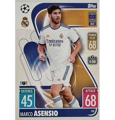 Topps Champions League 2021/2022 Nr 240 Marco Asensio