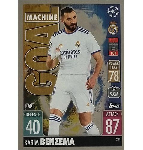 Topps Champions League 2021/2022 Nr 241 Karim Benzema