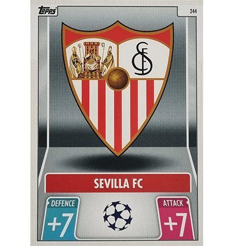 Topps Champions League 2021/2022 Nr 244 Sevilla FC Team Badge