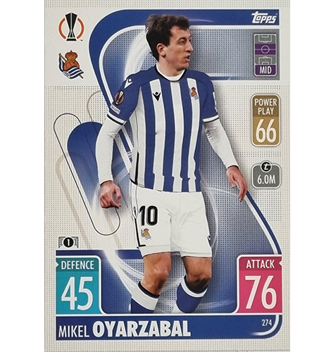 Topps Champions League 2021/2022 Nr 274 Mikel Oyarzabal