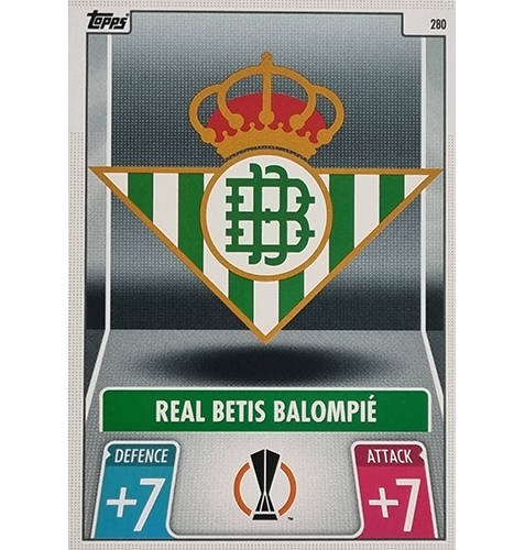 Topps Champions League 2021/2022 Nr 280 Real Betis Balompie Team Badge