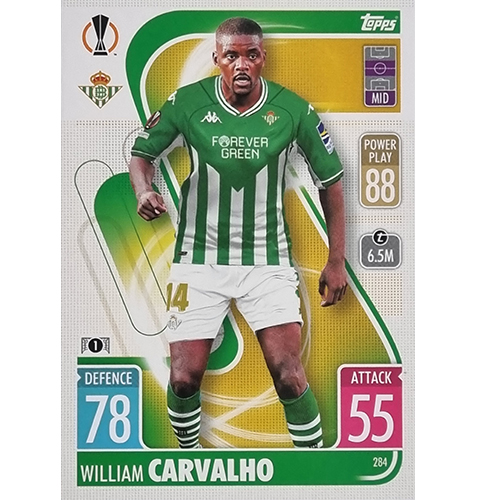 Topps Champions League 2021/2022 Nr 284 William Carvalho