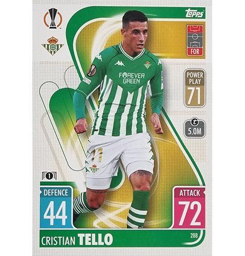 Topps Champions League 2021/2022 Nr 288 Cristian Tello