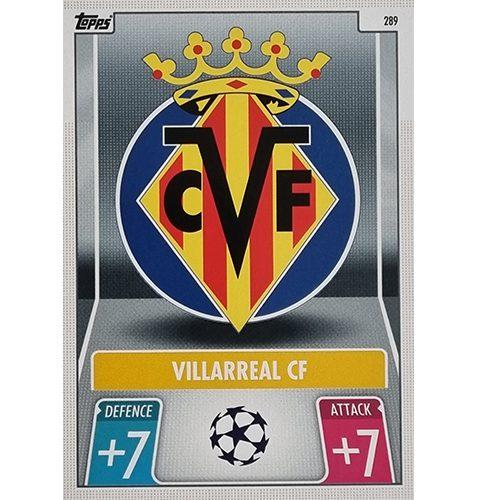 Topps Champions League 2021/2022 Nr 289 Villareal CF Team Badge