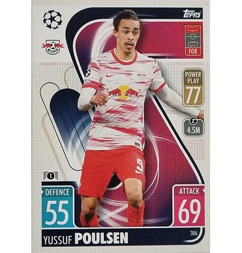 Topps Champions League 2021/2022 Nr 306 Yussuf Poulsen