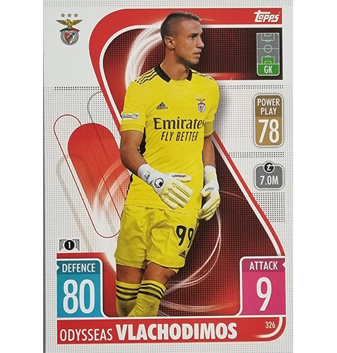 Topps Champions League 2021/2022 Nr 326 Odysseas Vlachodimos