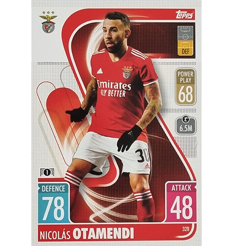 Topps Champions League 2021/2022 Nr 328 Nicolas Otamendi