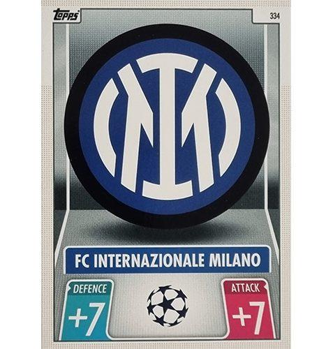 Topps Champions League 2021/2022 Nr 334 Fc Internationale Milano Team Badge