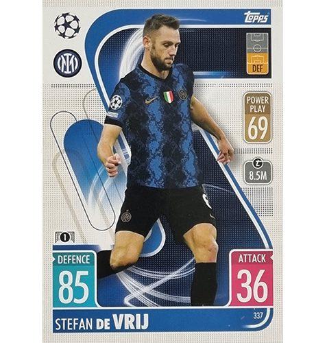 Topps Champions League 2021/2022 Nr 337 Stefan De Vrij
