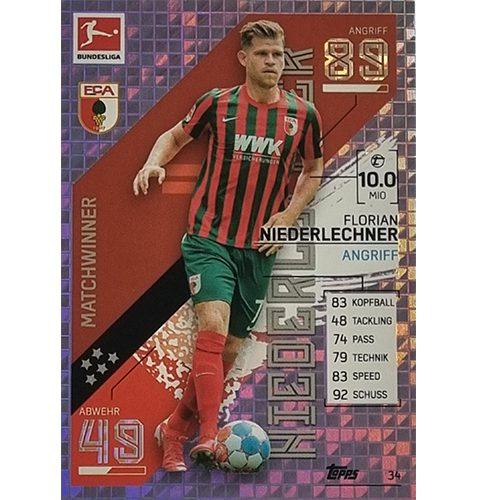 Topps Match Attax Bundesliga 2021/22 Nr 034 Florian Niederlechner