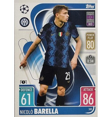 Topps Champions League 2021/2022 Nr 340 Nicolo Barella