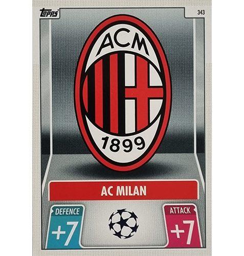 Topps Champions League 2021/2022 Nr 343 Ac Milan Team Badge