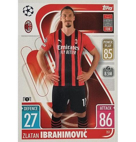 Topps Champions League 2021/2022 Nr 351 Zlatan Ibrahimovic
