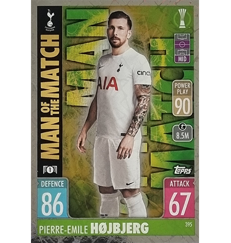 Topps Champions League 2021/2022 Nr 395 Pierre Emile Hojbjerg