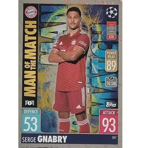 Topps Champions League 2021/2022 Nr 397 Serge Gnabry