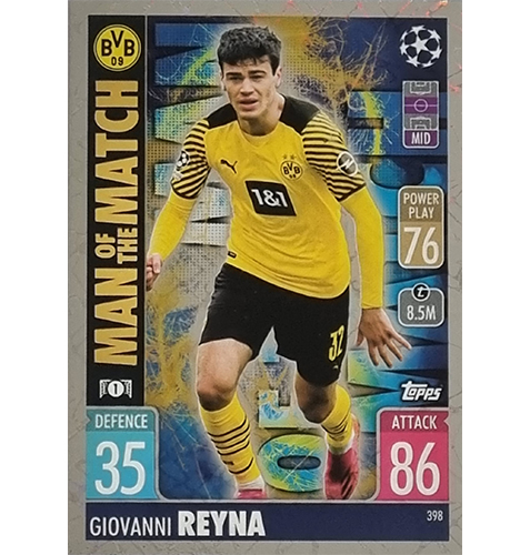 Topps Champions League 2021/2022 Nr 398 Giovanni Reyna