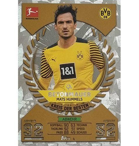 Topps Match Attax Bundesliga 2021/22 Nr 004 Mats Hummels