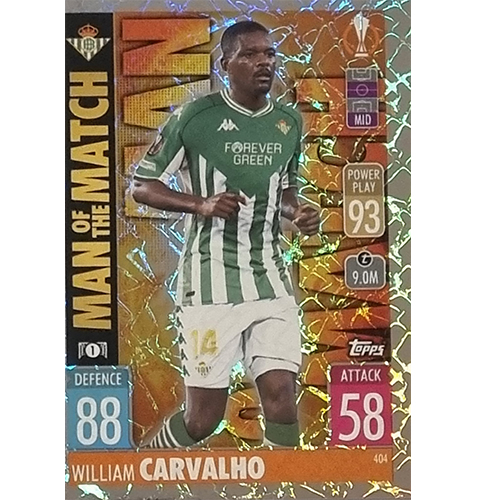 Topps Champions League 2021/2022 Nr 404 William Carvalho
