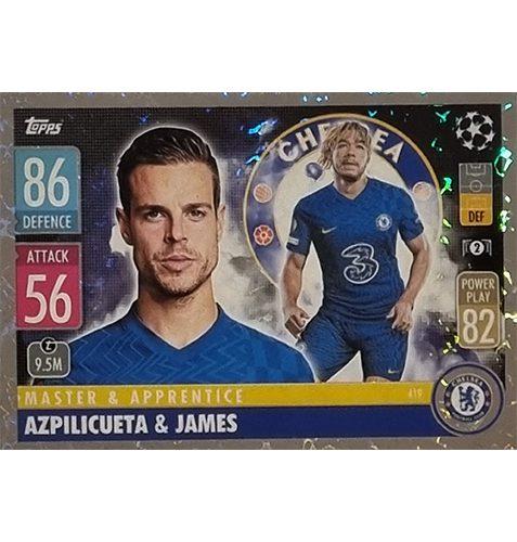 Topps Champions League 2021/2022 Nr 419 Azpilicueta und James