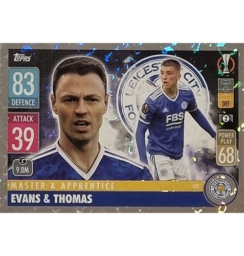 Topps Champions League 2021/2022 Nr 420 Evans und Thomas